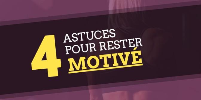 Entraînement et motivation : 4 astuces pour rester motivé même lors des temps gris!