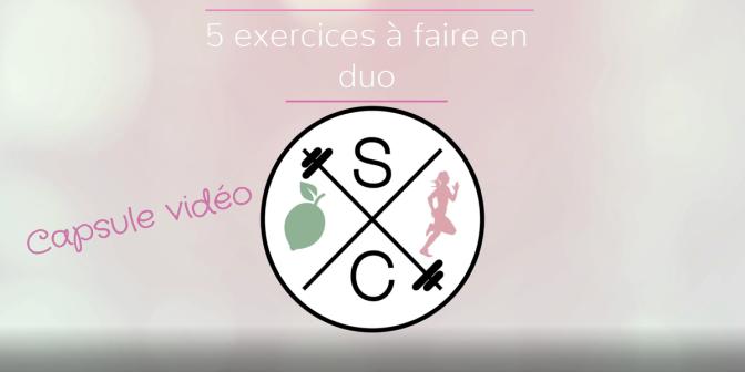 5 exercices à faire en duo